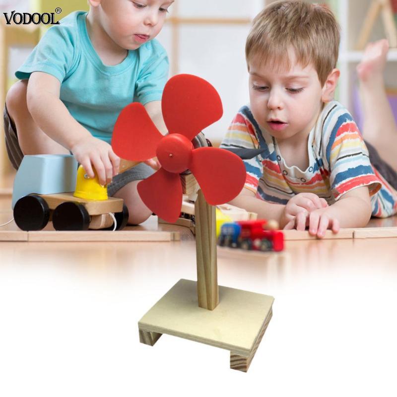 DIY ventilador Solar giratorio de madera, experimentos, juguetes educativos de ensamblaje, regalos de aprendizaje, recursos de enseñanza escolar, portátil, nuevo