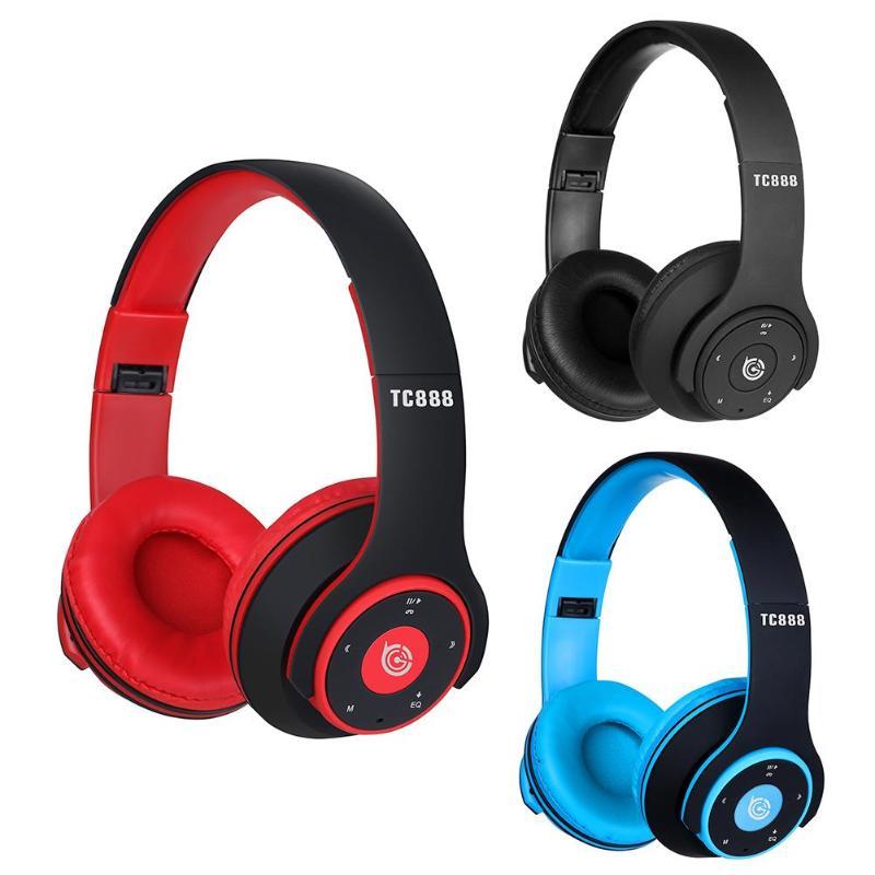 TC-888 auriculares inalámbricos Bluetooth auriculares plegables con soporte de micrófono tarjeta TF