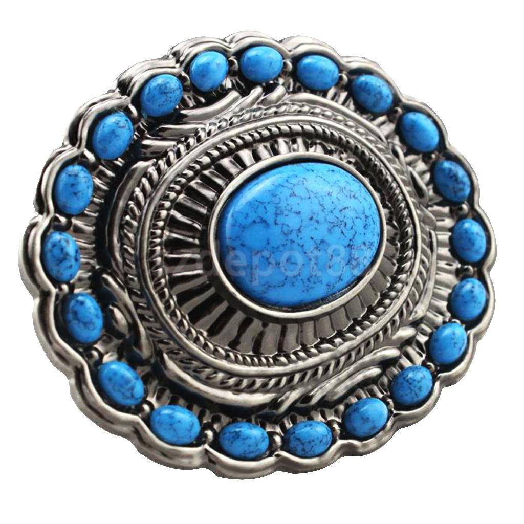 Boucle de ceinture en pierre Beryl   Vintage Turquoise, bohème Cowboy, boucle de ceinture, pierre Beryl occidentale