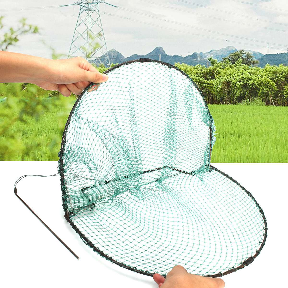 49X30cm New Bird Net Effective Humane Live Trap Hunting Sensitive Quail Humane Trapping Hunting Garden Supplies Pest Control