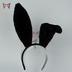 Pharah cosplay acessórios de fantasia fareeha amari lingerie sexy orelhas de coelho headwear hairband mão trabalho para a menina