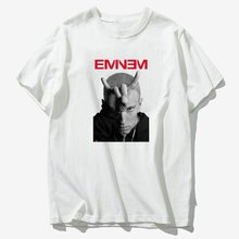 Streetwear Eminem Rapper T Shirt Mens Rock Cool Summer Clothes Tee Shirt Homme Harajuku Camiseta White Tshirt Men/male Puls Size