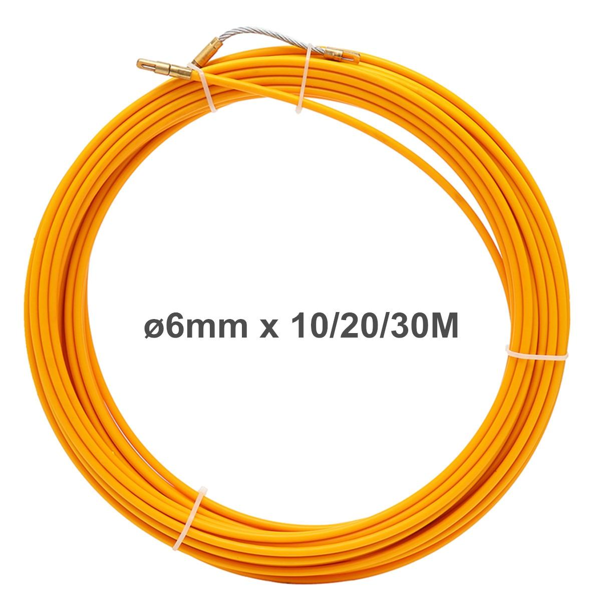 10 м 20 м 30 м направляющее устройство из стекловолокна Электрический кабель Push Pullers катушка воздуховод змея роддер Рыбная лента инструмент дл...