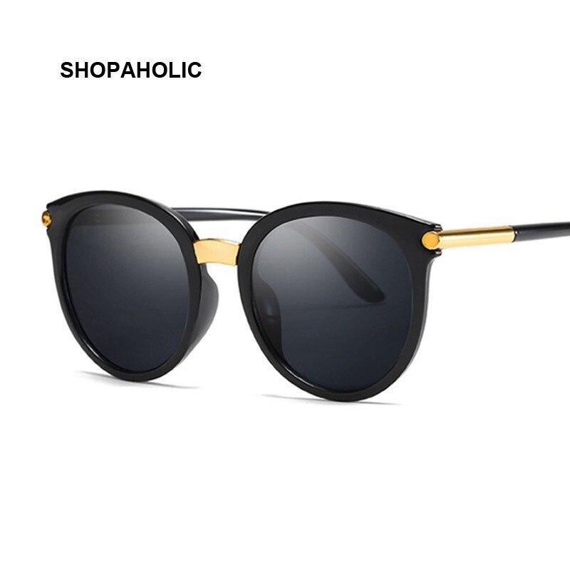 Nuevo Vintage negro de ojo de gato gafas de sol de moda de las mujeres de la marca de diseñador gafas de sol estilo ojos de gato para mujeres tonos UV400
