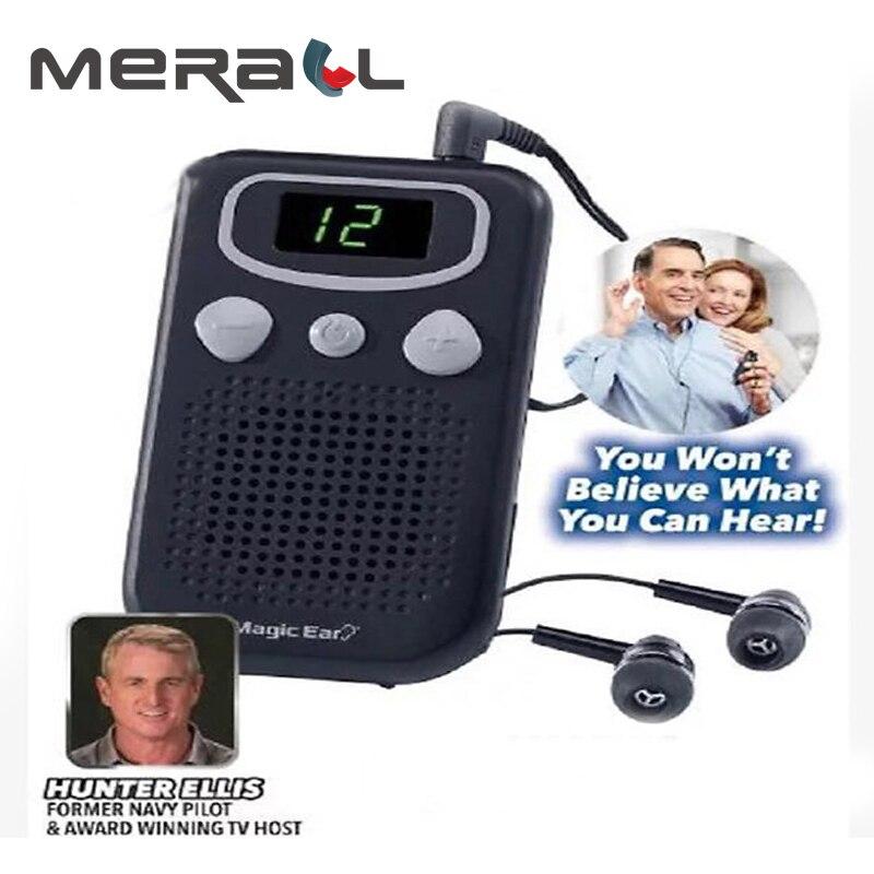 Som portátil amplificador de ouvido digital aparelho auditivo para os idosos portátil durável tipo de fone ouvido tom ajustável ouvir clara devic