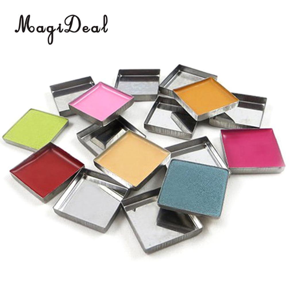 Kesoto DIY viaje 100 piezas vacío sombra de ojos rubor maquillaje soporte de cacerolas estuche organizador para magnético paleta en caja cuadrada