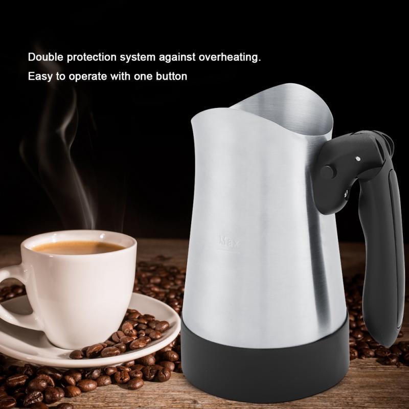 300ML Turkey Coffee Maker Electrical Coffee Pot Food Grade 360 Degree Rotate Boiling Pot Food Grade Coffee Kettle