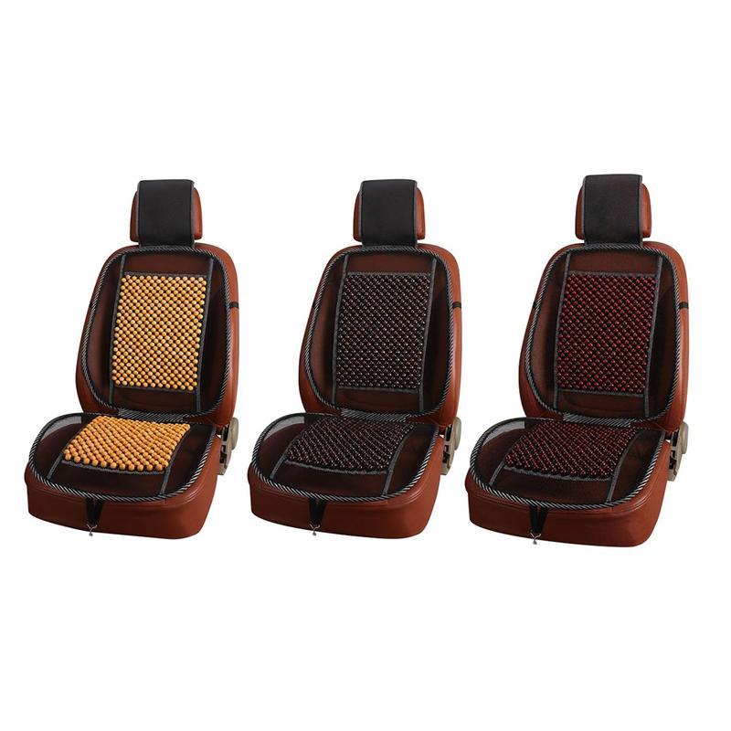 Cojín para asiento de coche Auto vehículo cuenta de madera de una sola pieza transpirable fresco suéter de verano Pad Four Seasons Universal Car