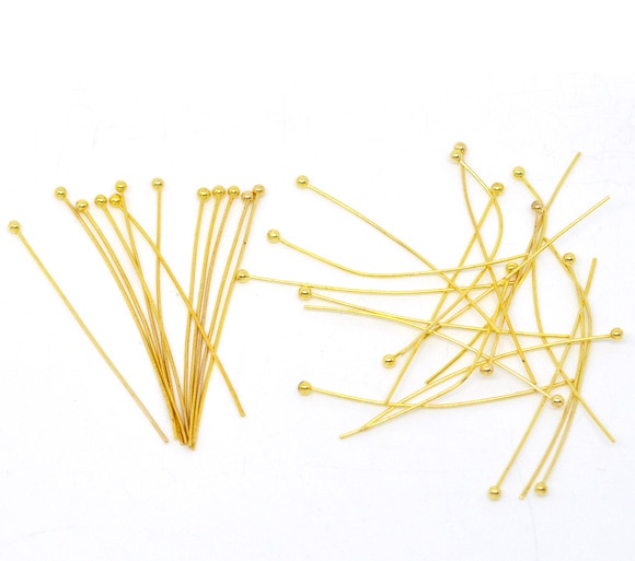 DoreenBeads 400 Gold color Ball Head Pins 30x0.7mm Findings (B10107), yiwu