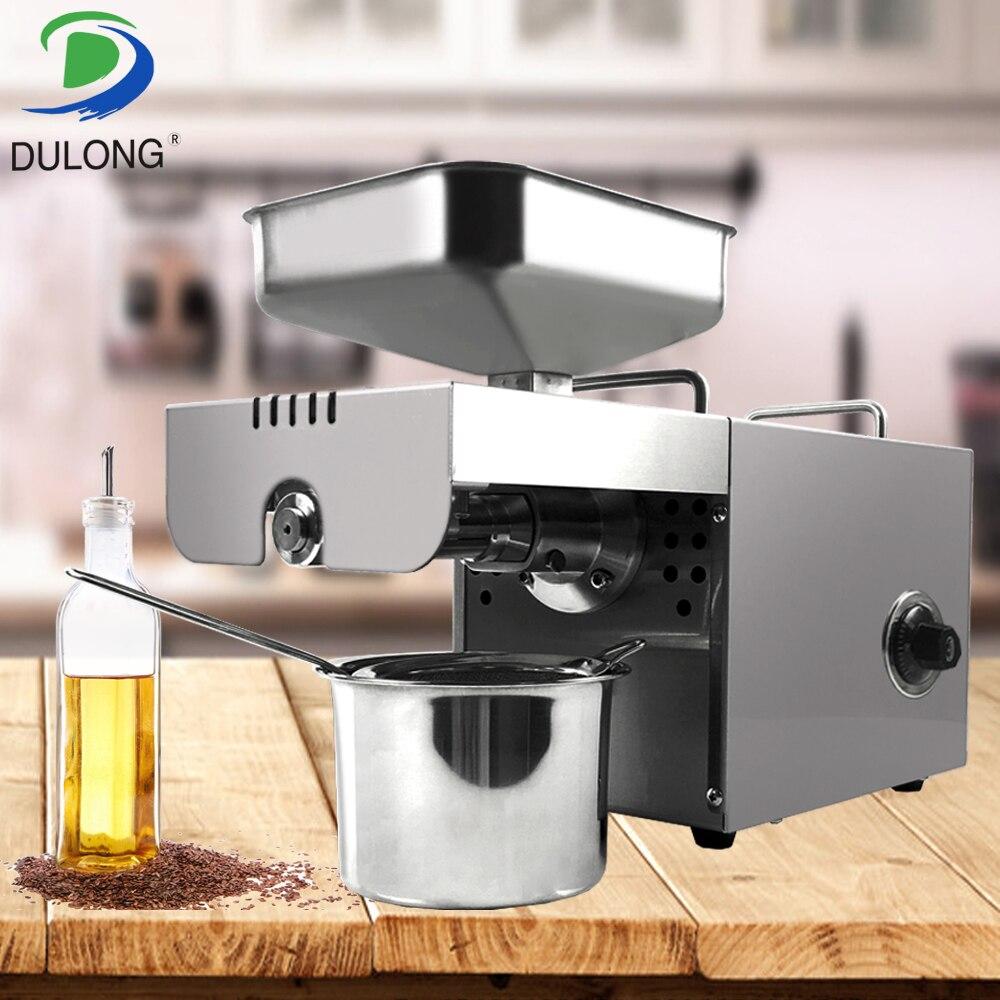 Nueva llegada 220V máquina de prensado automático de aceite de semillas de nueces de Máquina De Prensa De Aceite máquina de alta extracción de aceite de acero inoxidable