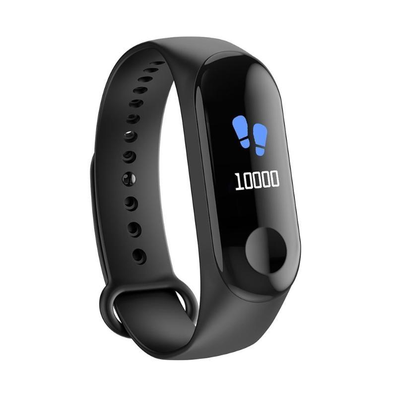 "ALLOYSEED W3 0,96 ""pantalla a Color Smartwatch pulsera IP68 impermeable de Monitor de presión arterial inteligente banda Fitness Tracker"