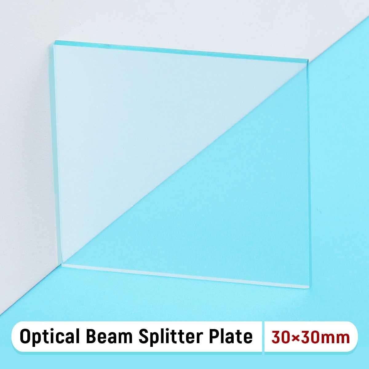 1 Uds., 30x30x1,1mm, 50 R/50 T, placa divisora de haz óptico, lente óptica de láser para instrumentos de análisis de espectro láser, Etc.