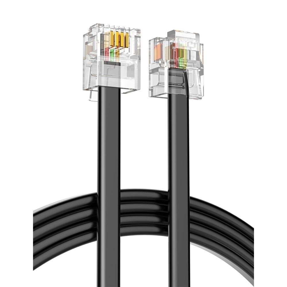 Calidad 5m 4C línea telefónica RJ11 6P4C conector teléfono cobre puro de cable de alambre para PBX analógica teléfono digital personalizable 1-100m