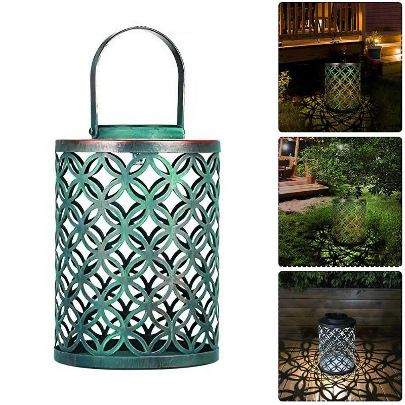 Solar LED Lantern Ground Light Outdoor Retro Garden Lawn Landscape Lamp for Home Outdoor Courtyard G