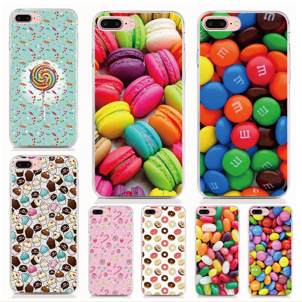 For Sony Xperia X XZ2 XZ3 XA1 Ultra XA2 Plus XA3 Ultra XZ4 Compact Case Rainbow Color Food Cover Coque Shell Phone Cases