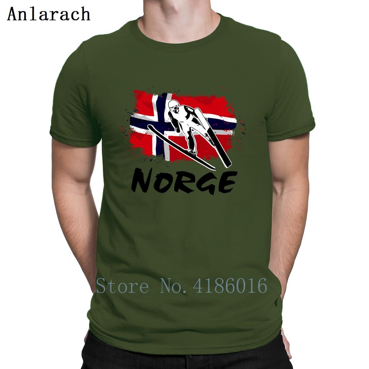 Cielo Jumpings Noruega bandera camisetas transpirables tejido Natural tamaño S-3xl hombres camiseta primavera Vintage manga corta Hiphop Tops