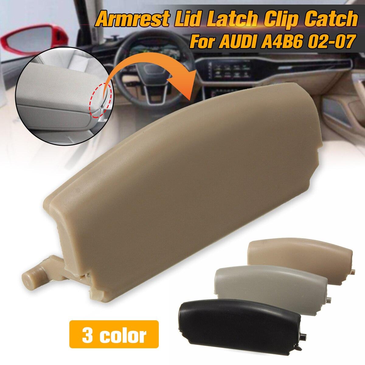 1PC Armrest Lid Latch Clip Catch For AUDI A4 B6 Centre Console Cover E177B Armrest Cover Latch Clips Car Auto Replacement Parts