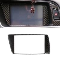 for audi q5 2009 2010 2011 2012 2013 2014 2015 2016 2017 carbon fiber car navigation dashboard panel screen frame cover trim