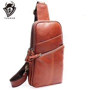 Men Messenger Leather Chest Pack Casual Men's Travel Shoulder Bag For Women Waist