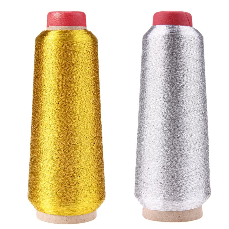 3000M oro/plata computadora de punto de cruz hilo de coser hilo línea textil hilo metálico línea bordada