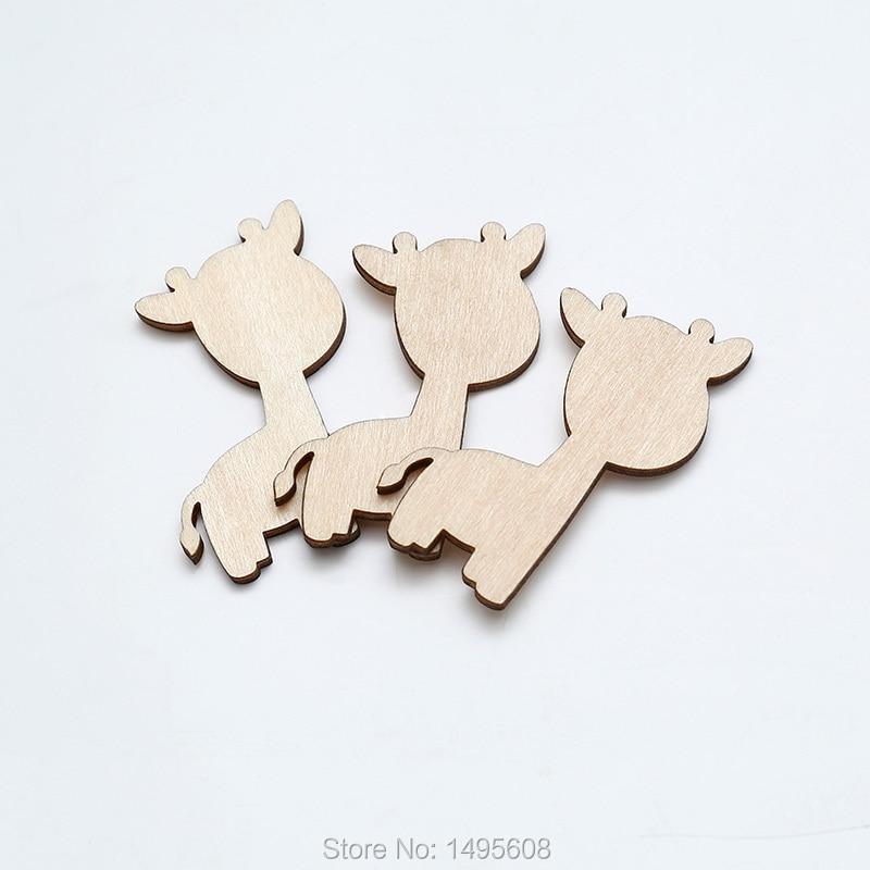 Silueta de jirafa-Forma de madera sin terminar-para Artes, artesanías. Adorno, artesanía, decoración, Decoupage, suministro artesanal, madera en blanco