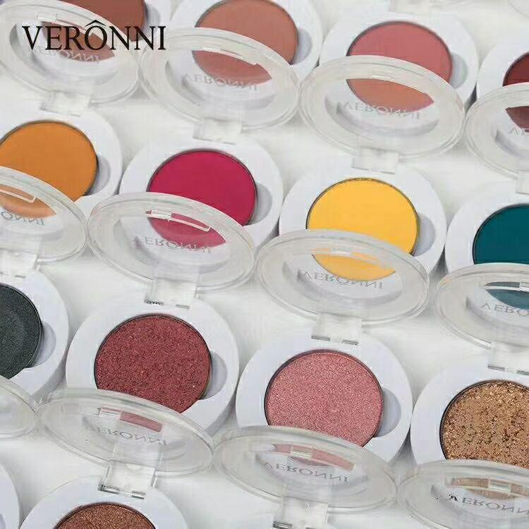 VERONNI mashed potato eye shadow pressed powder single color palette matte shimmer glitter colors 240pcs/lot DHL Free