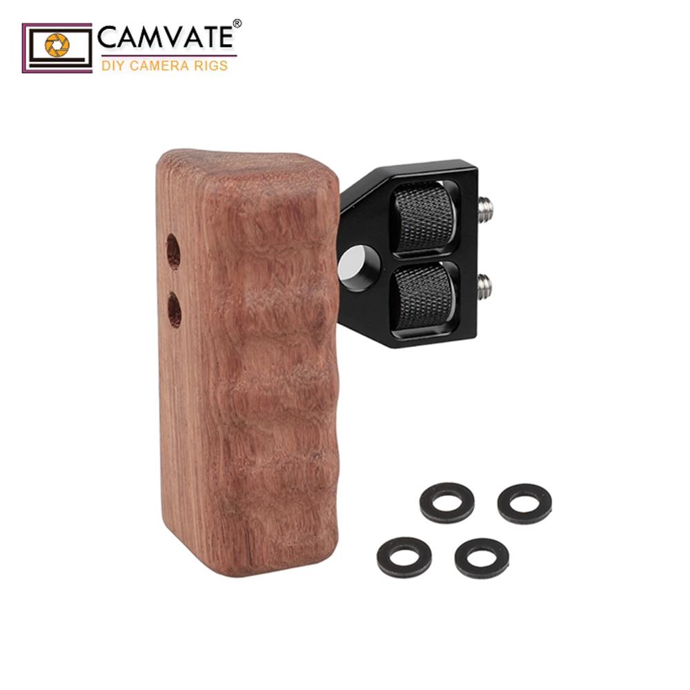 CAMVATE DSLR деревянная ручка для правой рукоятки крепление поддержка для DV видео клетка Rig C1476 камера аксессуары для фотосъемки
