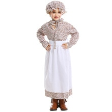 Filles contes de fées mauvais loup tante Costume gardien mamie mamie Cosplay robe robe idyllique ferme tablier Halloween pourim