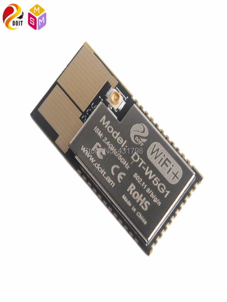 Doit AIoT SoC DT-W5G1 5G wifi وحدة 2.4g/5g المزدوج تردد وحدة مع هوائي واجهة صورة اللاسلكية انتقال MIPS RISC