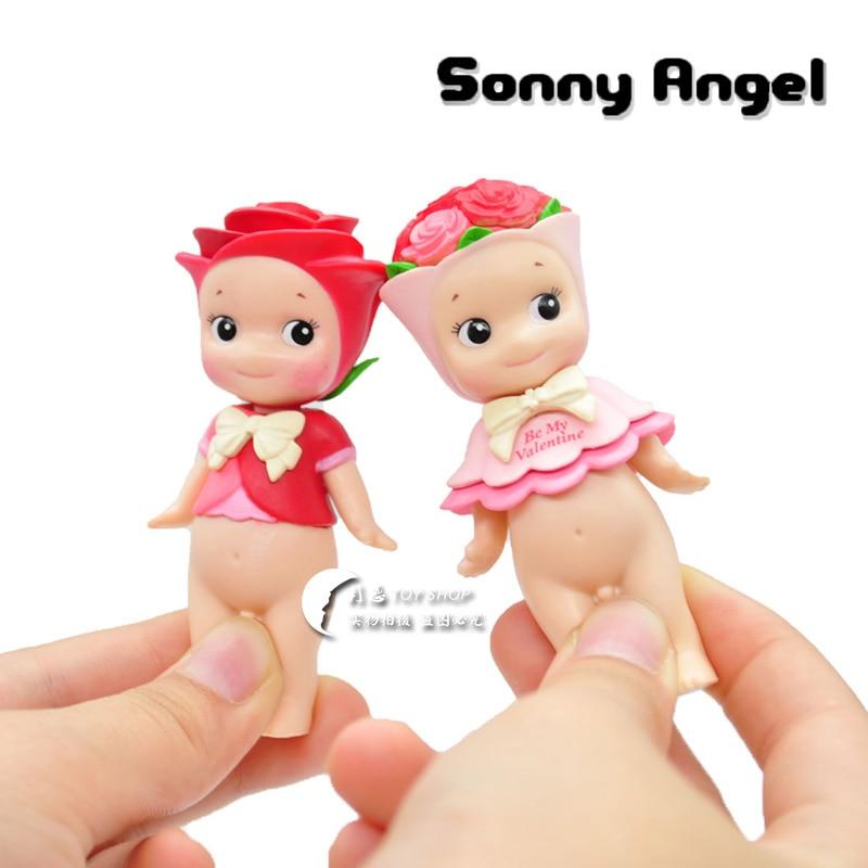 6 pcs/set Kewpie Doll Sonny Angel Figures Toy  Cute Couple Rose Series Sonny Angel PVC Figure Doll Toys Free Shipping