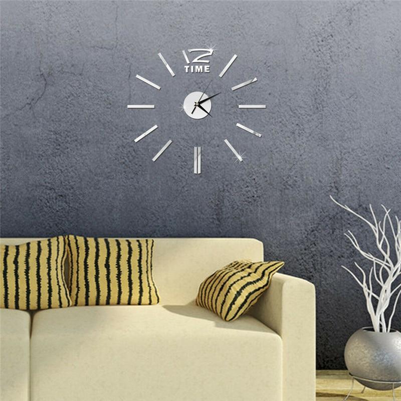 Reloj de pared creativo grande, relojes grandes, calcomanía de plexiglás, pegatinas 3D, números romanos, DIY, decoración moderna para pared del hogar, nuevo en moda 2019