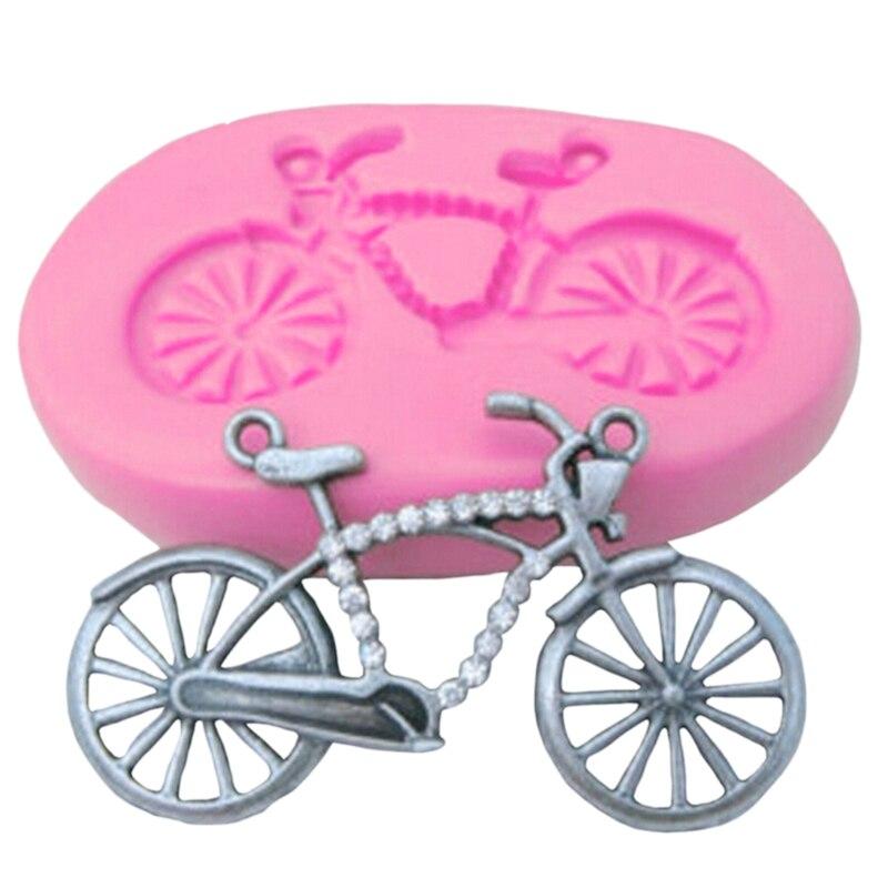 1pc herramientas de Decoración de Pastel bicicleta forma 3D molde para fondant de silicona pastel molde Chocolate molde de hornear cerámica herramienta