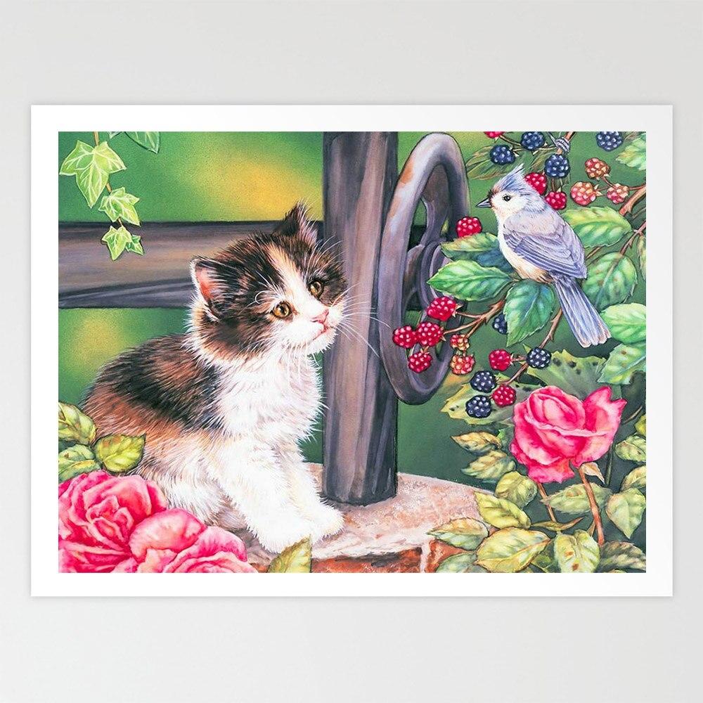 SepYue 5D pintura diamante completo diamante cuadrado mosaico de fotos pintura con bordado de diamantes venta costura gato DP