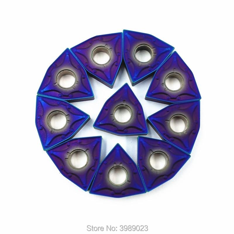 10 Uds HRC45 Bleu Nano WNMG080404 Interne Outils de Tournage Carbure Inserer WWLNR/L MWLNR/L CNC De Coupe outil Tour De