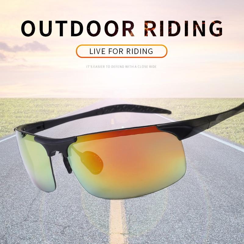 De los hombres gafas de sol al aire libre gafas de deporte al aire libre de pesca gafas UV400