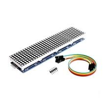Max7219 4 en 1 affichage microcontrôleur 5P ligne Module adapté pour Arduino matrice de points