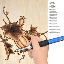 Ensemble de crayons à pyrographie avec contrôle de température   Kit de gravure pour le bois de 52 pièces comprenant une pointe à souder en gaufrage