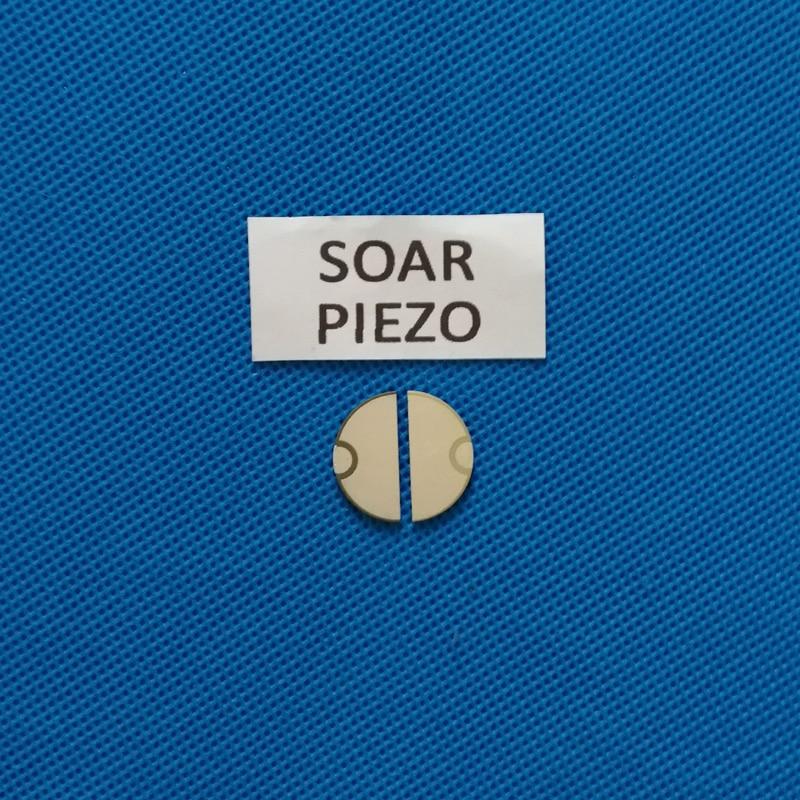 20mm * 2.5 mhz semicircular piezo elétrica cerâmica fetal coração monitoramento transdutor pzt cristal sensor chips/um par