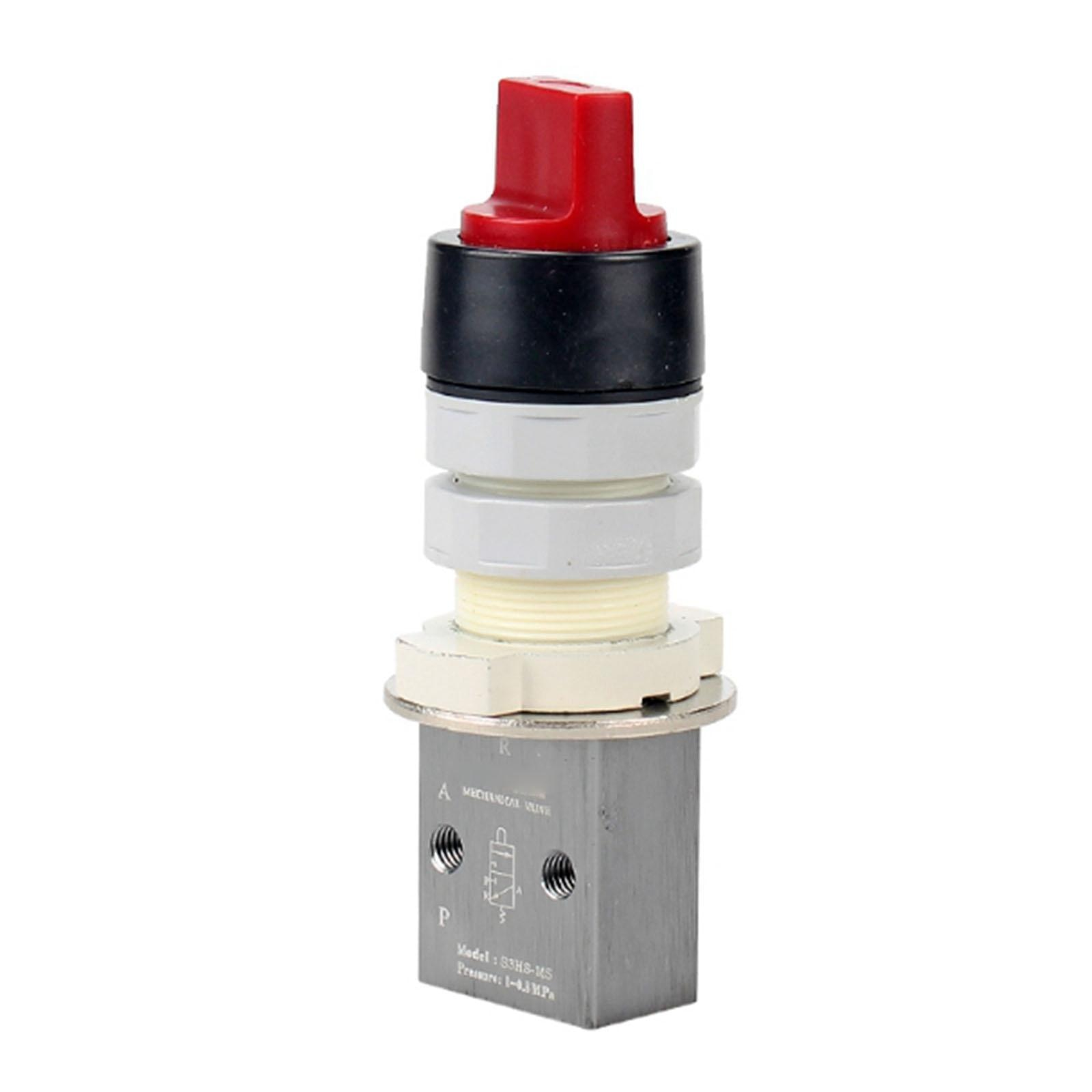 "S3HS-M5/06/08 M5 1/8 ""1/4"" BSP 3/2 Way Selector tipo válvula mecánica neumática"