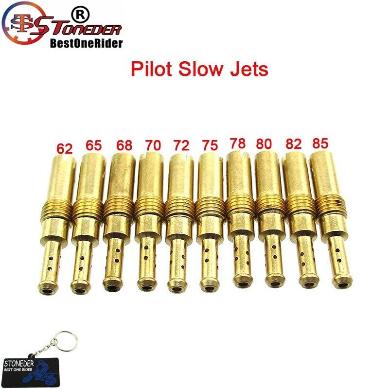 STONEDER carburador piloto lento Jets #62 65 68 70 72 75 78 80 82 85 para Park N424-21 PJ PWK PWM PE de carbohidratos