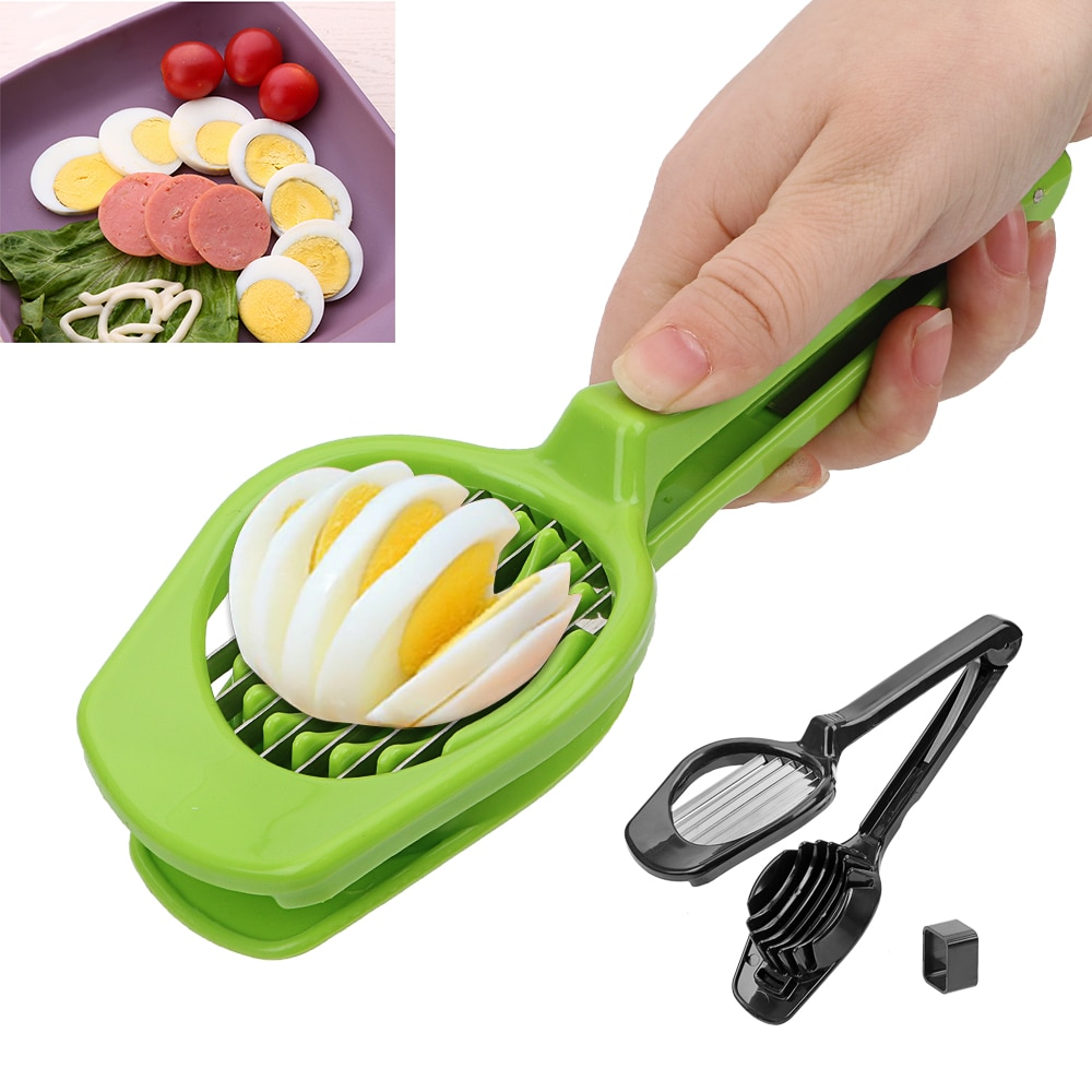 Multifuncional molde de corte handheld cogumelo kiwi divisor cortador de tomate ovo slicer aço inoxidável ovo split dispositivo
