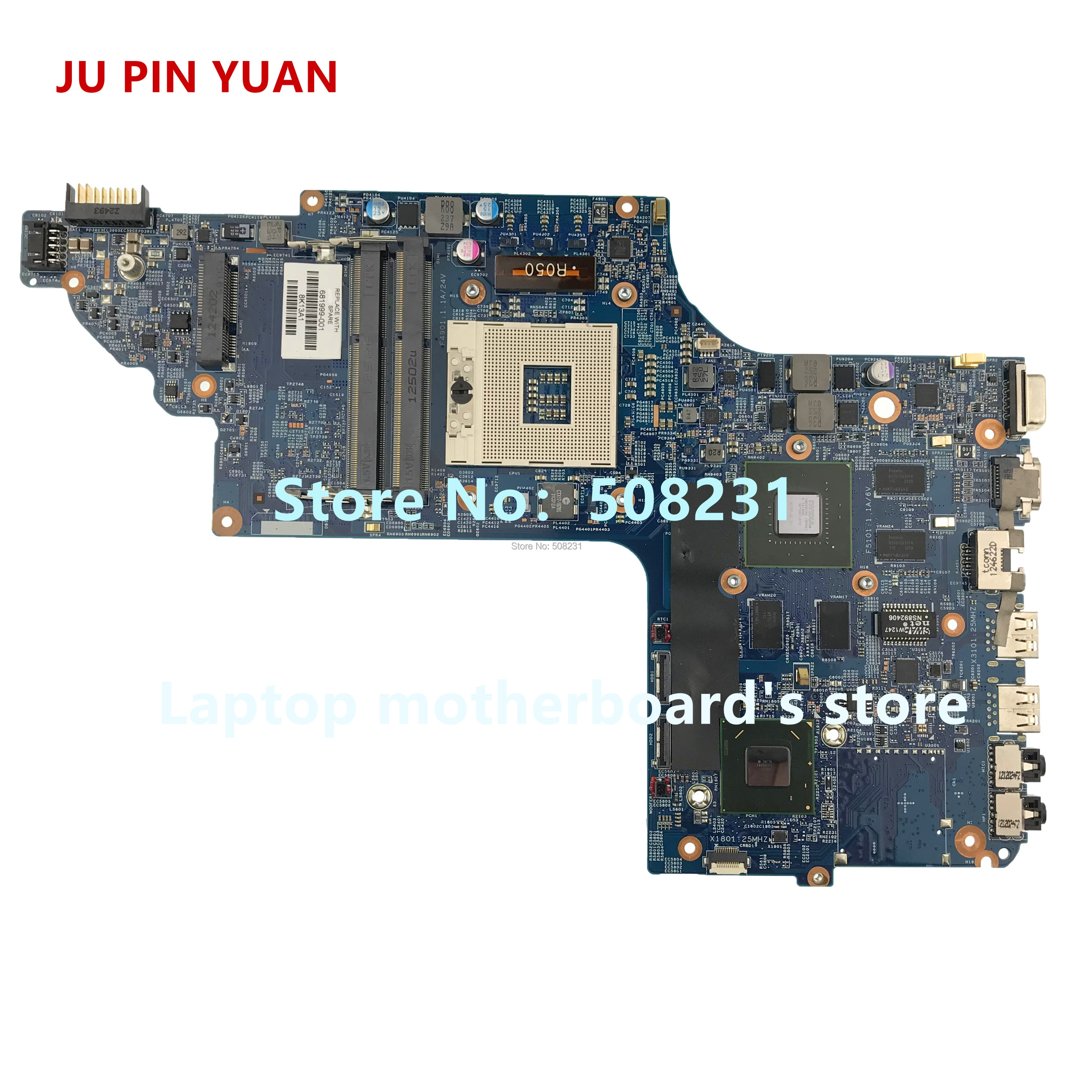 جو دبوس يوان 681999-501 681999-001 اللوحة الأم ل HP DV7 DV7-7000 اللوحة المحمول GT630M/1G اختبار بالكامل