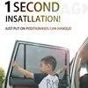 Nach maß Für Cadillac SRX/XT5/ATSL/CT6/XTS/CTS Auto Spezielle Vorhang Schwarz Auto seite Fenster Sonnenschutz Mesh Schatten Blind