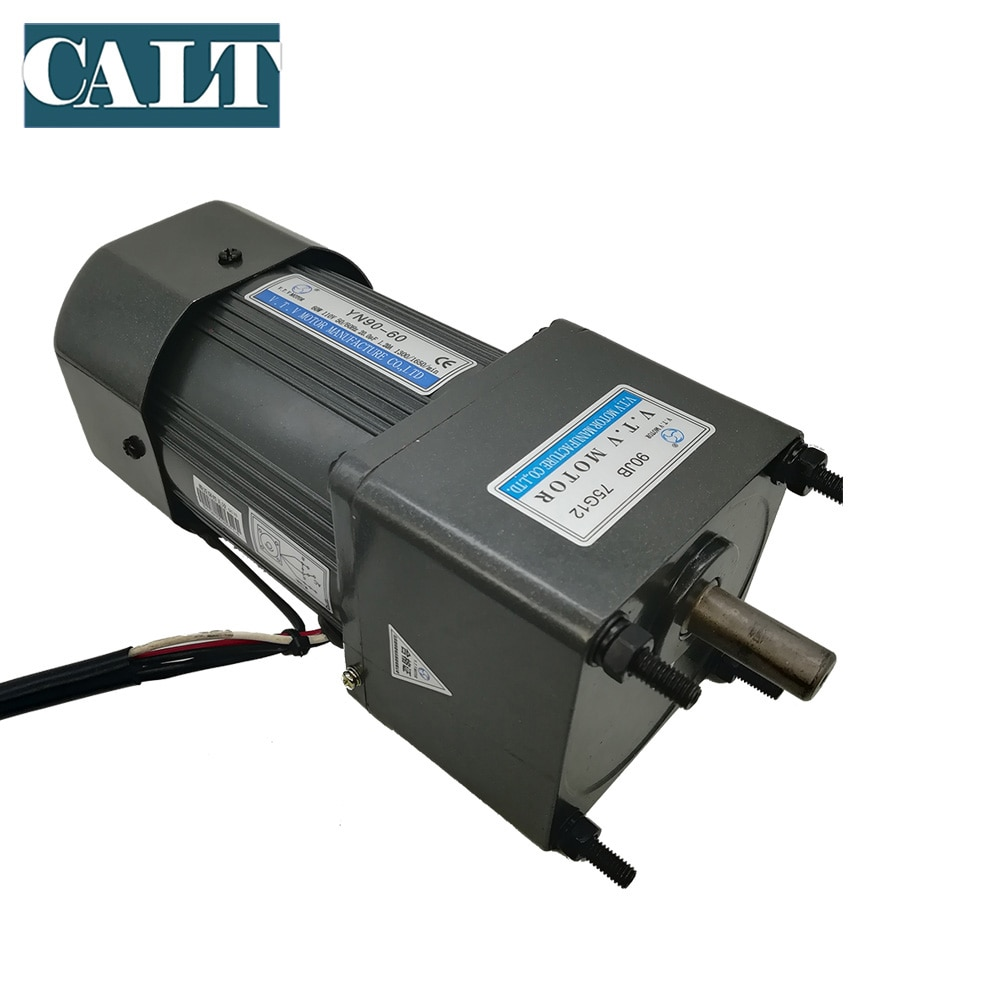 VTV YN90-60 60W 220V ac single phase induction gear motor constant speed selection  3~180 reduction ratio  output speed 50rpm enlarge