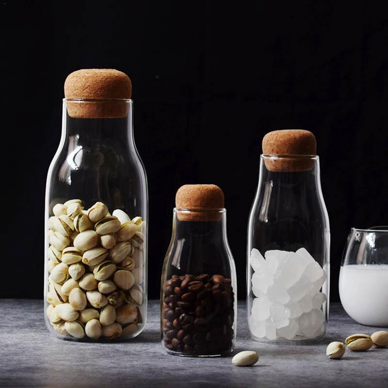 Стеклянные банки Мейсон банка прозрачное хранение может пробка бутылка маленькая стеклянная бутылка Контейнеры Герметичный Чай Кофе емкость для хранения