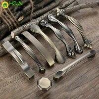 2 pcs metal drawer pulls antique door handles and knobs vintage kitchen cabinet handles furniture handles bronze