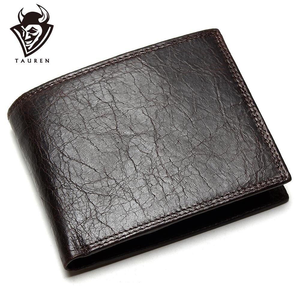 Мужской кошелек TAUREN, из 100% натуральной кожи, на молнии, с карманом для монет, из коровьей кожи