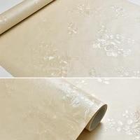 60cmx10m luxurry rose flower self adhesive wallpaper roll for bedding living room modern fashion embossed white vinyl wall paper
