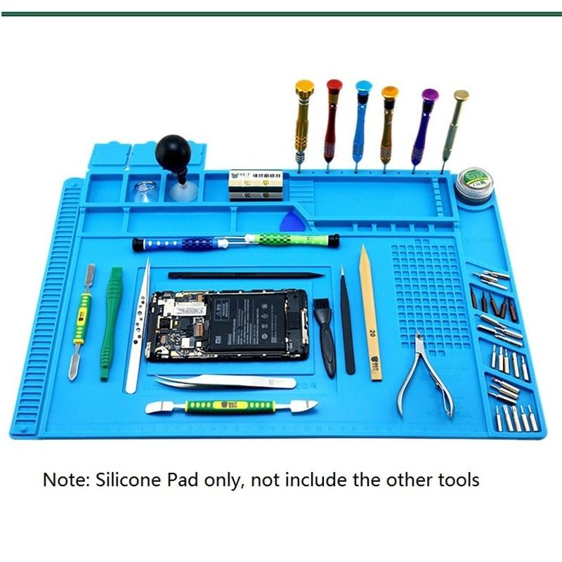 S-160 de silicona para reparar estera aislamiento térmico magnético trabajo magnético para soldadura eléctrica plataforma de reparación para iPhone PC LG