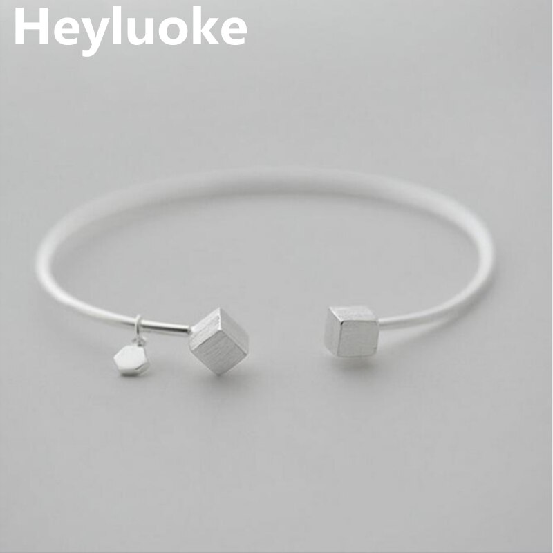Viking pulseira nova moda jóias praça amor lettering acessórios feminino personalidade abertura pulseira